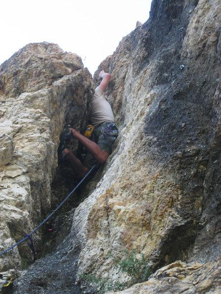 Rock Climbing Photo: Awkward!