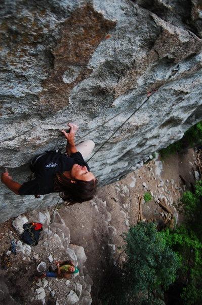 Rock Climbing Photo: Eyes on the prize.  Sean hiking the Ramon.