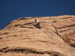 Rock Climbing Photo: At the anchors of Caliban.