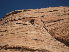 Rock Climbing Photo: My son on toprope.