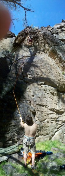 Rock Climbing Photo: 1st climb of the day in Crawdad Canyon April 17,20...