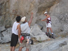 Rock Climbing Photo: Giving some beta to my sister's boyfriend since th...