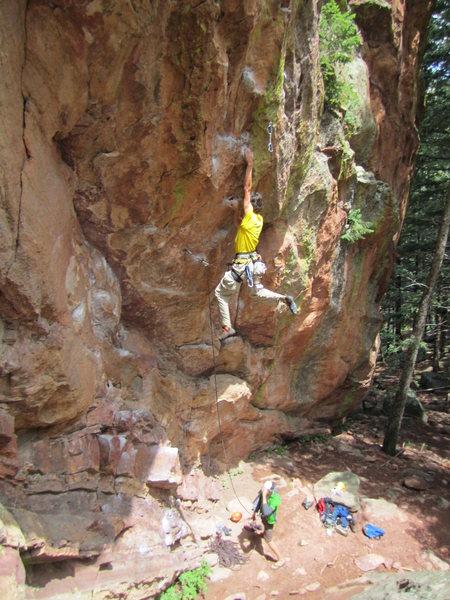 Rock Climbing Photo: Mike Burdon on Touch Monkey.
