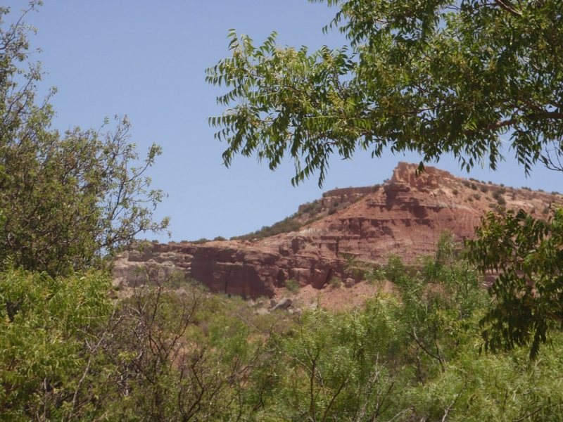 Rock Climbing Photo: Red and White from the pullout on the road. You ca...
