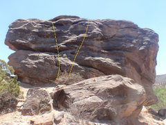 Rock Climbing Photo: Two easy routes on Two Pin