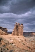 Rock Climbing Photo: The Three Gossips, Arches National Park