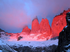 las torres del paine from the mirador