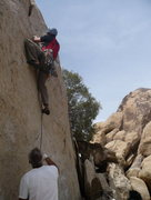 Rock Climbing Photo: Dave leading something in Josh...