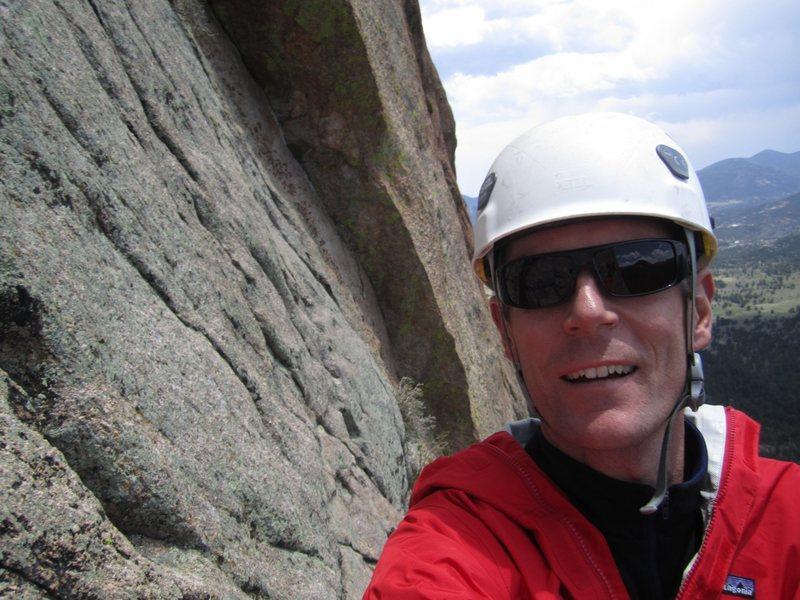 Tony Maul and I at Lumpy Ridge.  June 11th 2011.  Mainliner 5.9.  Photos by Tony