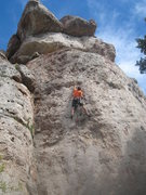 Rock Climbing Photo: Big moves between big holds on Pale Face Magic.