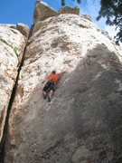Rock Climbing Photo: Working up along the second flake, at the end of t...