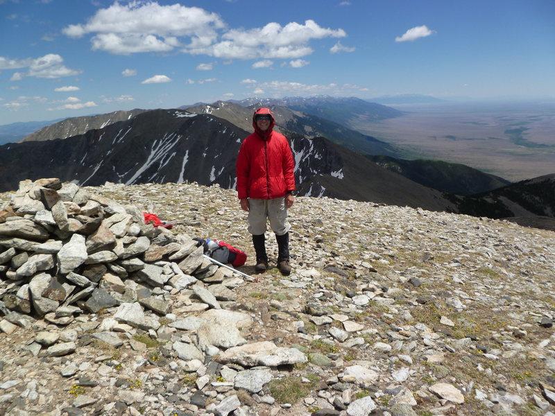 Rock Climbing Photo: Summit of Hunts Peak looking south.