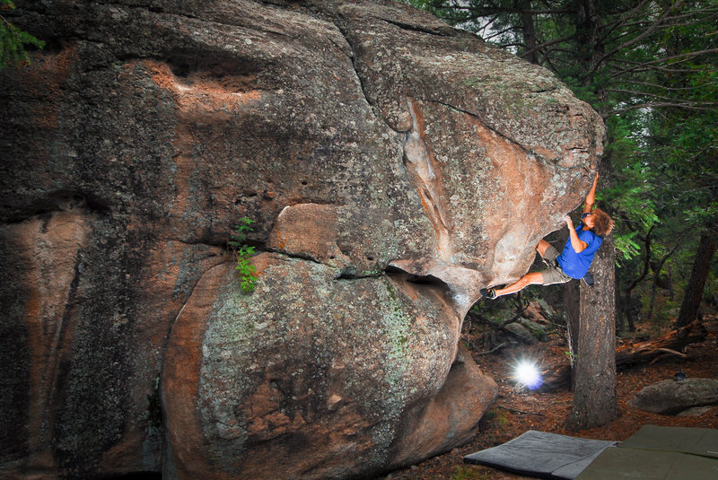 Rock Climbing Photo: Nine Lives Boulder with Rambo. 7/26/2009.   andyli...