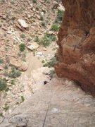 Rock Climbing Photo: Paul following P1