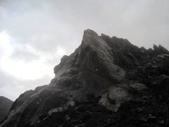 Rock Climbing Photo: The view across the canyon as the storm hits