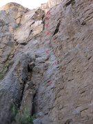 Rock Climbing Photo: Life in Electric Larvae Land - 5.10b - 8 bolts tot...