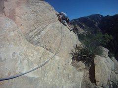 Rock Climbing Photo: Great exposure on this arete.