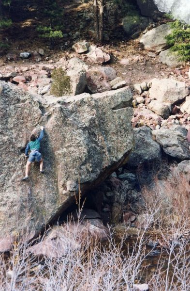 Easy route on s. side, early '90s.