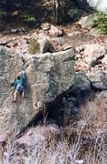 Rock Climbing Photo: Easy route on s. side, early '90s.