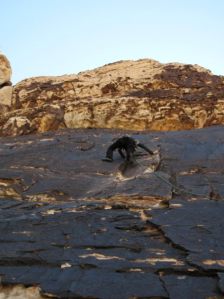A fun, mellow climb to get my mojo back. These 108 degree days got me all excited to get back on the rock- really. I can't explain it. <br> <br> June 2011- photo credit: Jonny