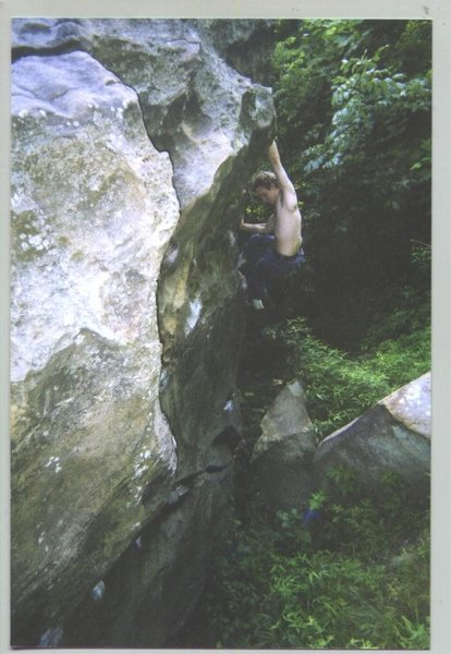Rock Climbing Photo: Nameless boulder on the edge of the Holy Boulders ...
