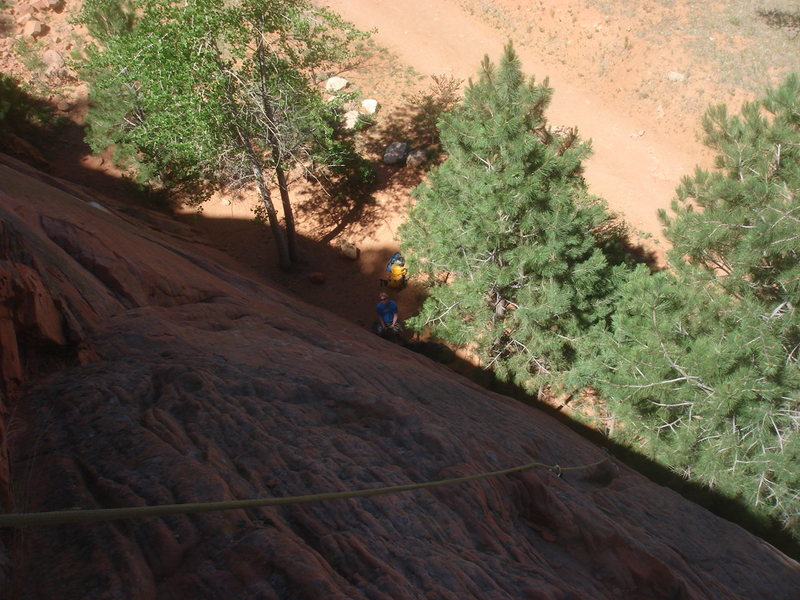 Rock Climbing Photo: Looking down the lower section of the South Pipe R...
