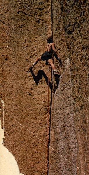 """Rock Climbing Photo: Buck Norden on """"Prayer Book"""" 5.10+ Photo..."""