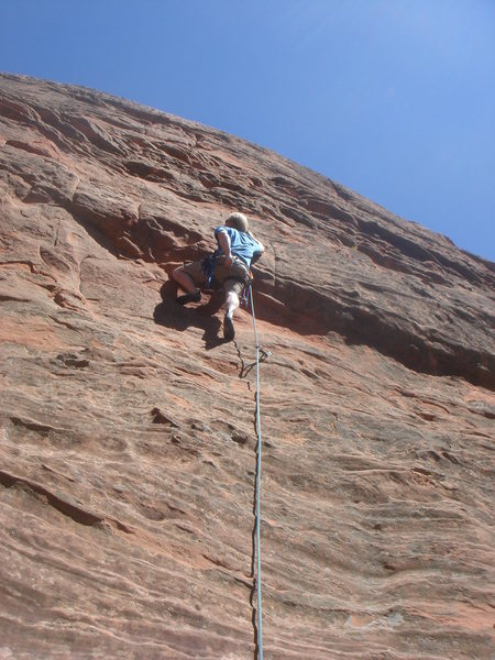 Jason Poole, at the crux of Pull Down, Not Out.