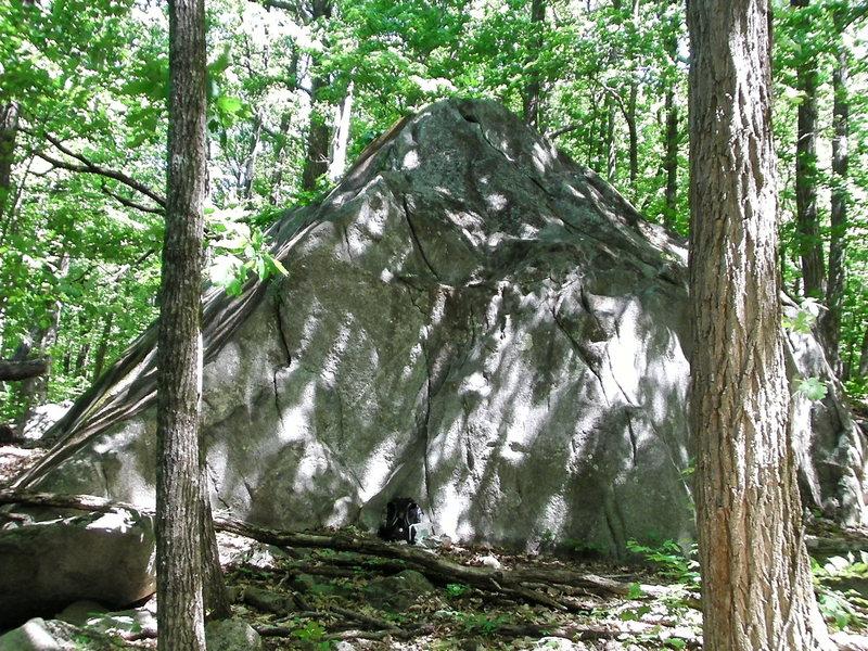 hilltop boulder
