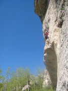Rock Climbing Photo: Kate enjoying great pockets on Spus Equal Velocity...