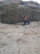 Rock Climbing Photo: Contemplating the crux.
