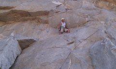 Rock Climbing Photo: Taking a break on Mantle Marathon.