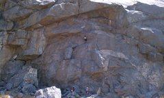 Rock Climbing Photo: My sister's boyfriend on Mantle Marathon.