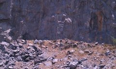 Rock Climbing Photo: More of Whammy.  Roof area and the right side of i...
