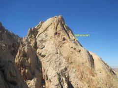 Rock Climbing Photo: Upper section of the climb .Photo taken from the c...