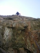 Rock Climbing Photo: Above the opening cruxes and headed for the tricky...