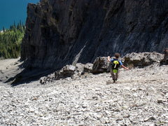 Rock Climbing Photo: Coming down the scree shoot after climbing Joy (20...