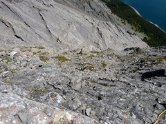 Rock Climbing Photo: Trail off the ridge of Joy. This is what you're lo...
