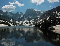 Shoshoni Peak from Lake Isabelle.