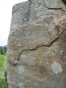Rock Climbing Photo: The finish gains the sloper rail and guns for the ...