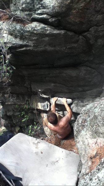 Rock Climbing Photo: Red Ryder start.