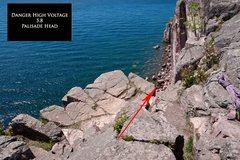 Rock Climbing Photo: Danger High Voltage Anchor
