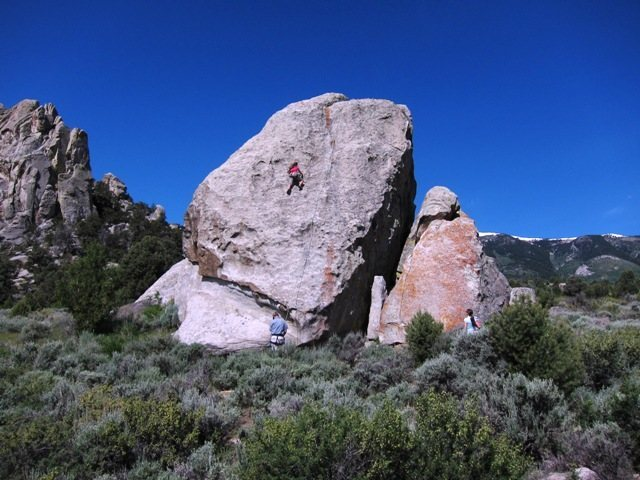 Kid Rock with a climber on Small Fry