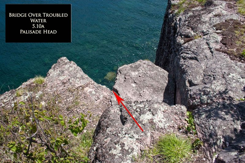 Rock Climbing Photo: Bridges over Troubled Water Anchor