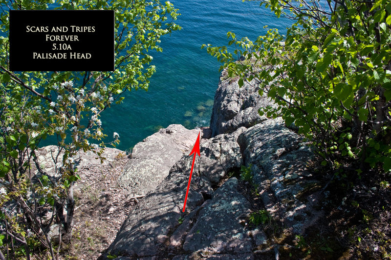 Rock Climbing Photo: Scars and Tripes Forever Anchor