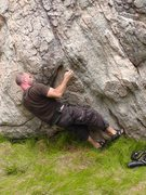Rock Climbing Photo: Start of Down South Raven, body hides a left hand ...