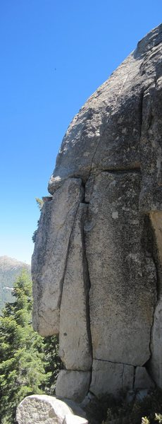 "Rock Climbing Photo: West Face - showing the lines of ""Slap and Ti..."