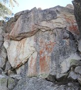 """Rock Climbing Photo: North Face Left Side, obvious undercling is """"..."""