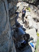 Rock Climbing Photo: Scott Nomi starting up.