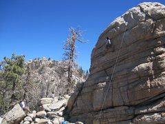Rock Climbing Photo: Scott at the crux.